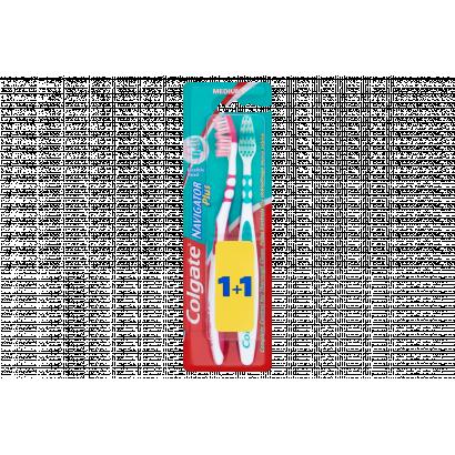 Colgate Navigator Plus Medium Toothbrushes 2 pcs