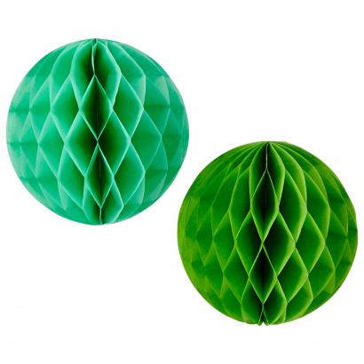 Actuel papír dekoráció 20 cm 2 db kék/zöld