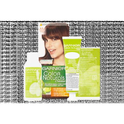 Garnier Color Naturals Creme 4.5 Mahagóni karamellbarna tápláló tartós hajfesték