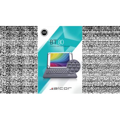 Alcor tablet tok, bt80, magyar billentyűzettel