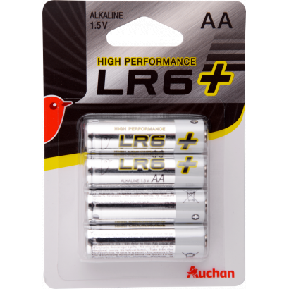 Auchan Premium alkaline battery AA LR6, 4 pcs