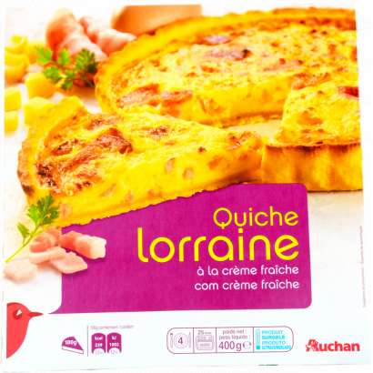 Auchan quiche lorraine 400 g