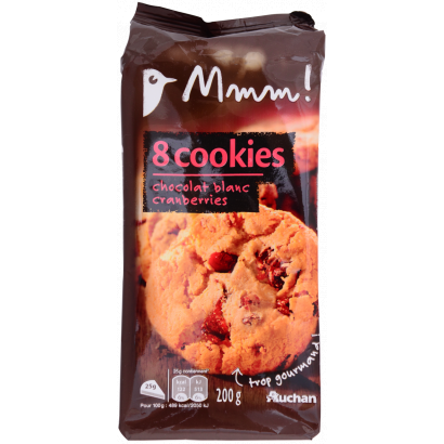 Auchan blueberry cookies  200 g