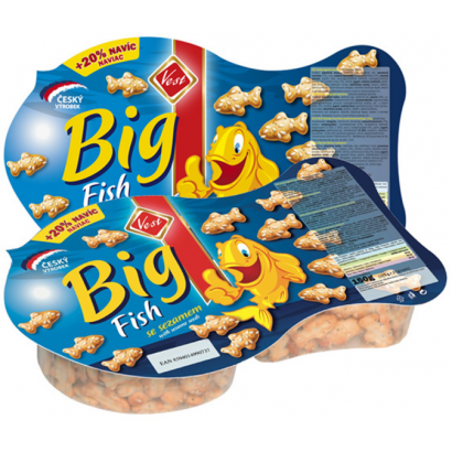 VEST BIG FISH SESAME CRACKER 125G