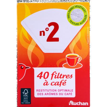 Auchan filter N2 coffee filters 40 pcs