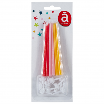 ACT/THIN CANDLES X12, ORANGE