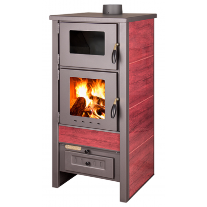 TAURUS FREESTANDING FIREPLACE WITH TILES, WITH OVEN
