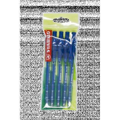STABILO Liner 308 golyóstoll, nyomógombos, kék, 5db
