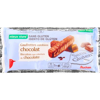 Auchan glutén mentes csokoládés keksz 100 g