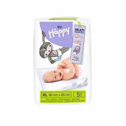 BELLA BABY HAPPY BABY UNDERPAD 60X90 CM 5 PCS