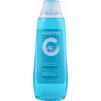 Cosmia minerals 2 in 1 shower gel and shampoo 750 ml