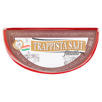 A Tejes Trappista félzsíros,félkemény felezett füstölt