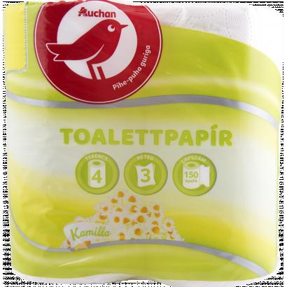 Auchan kamilla toalettpapír  3 rétegű 4 tekercses