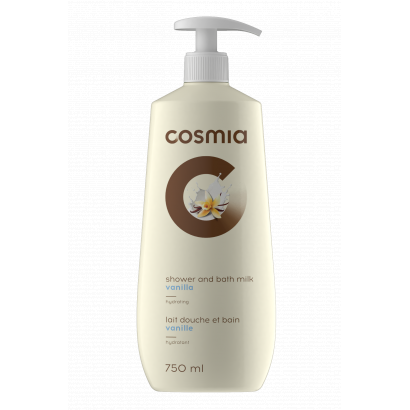 COSMIA BATH AND SHOWER GEL MILK VANILLA 750 ML