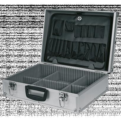 Szerszámostáska, alumínium, 45x15x32 cm