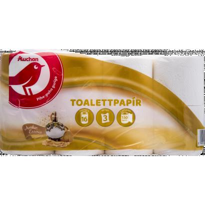 Auchan amber toalettpapír  3 rétegű 16 tekercses