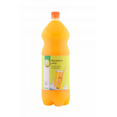 Orange flavoured syrup with sweeteneres, energy - free