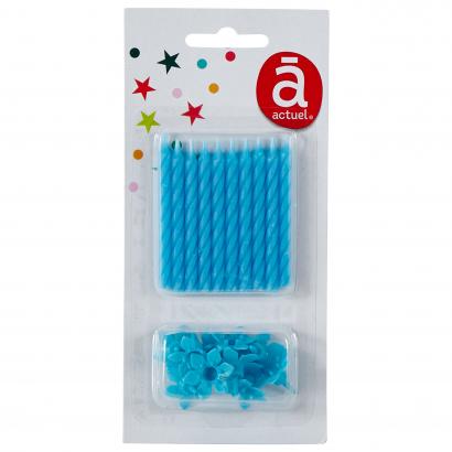 Actuel szülinapi szálgyertya 10 db kék