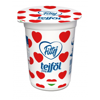 Fittej sour cream with 20% fat content, homogenized 330g