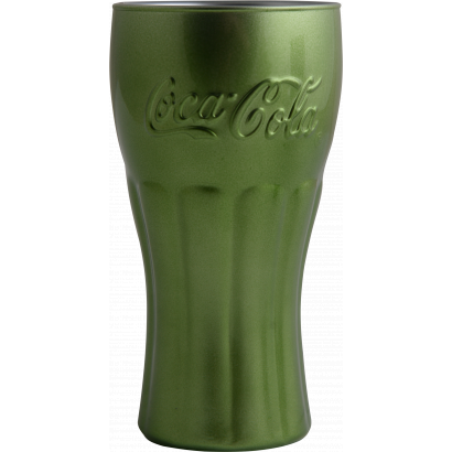 COCA-COLA thumbler glass 37 cl green