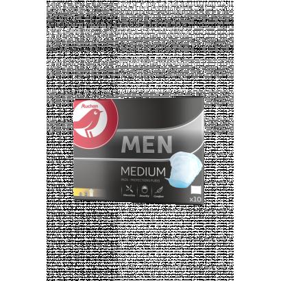 Auchan egészségügyi betét méretű speciális betét alkalmi vizeletvesztésre. men médium férfiaknak 10  db