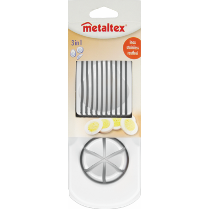 DUAL PURPOSE EGG SLICER,3 CUTS ABS FRAME, S/S WIRES