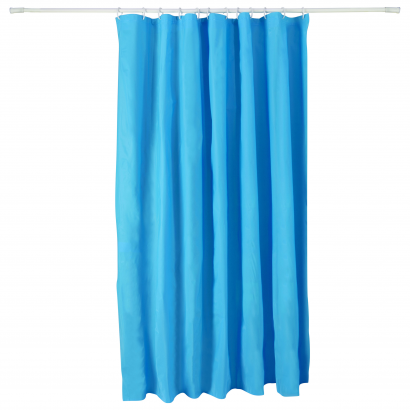 ACT/ SHOWER CURTAIN, PEVA, 180X200CM, CL: SOLID COLOR BLUE