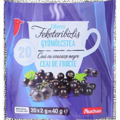AUCHAN FRUIT TEA, BLACKCURRANT 20X2G