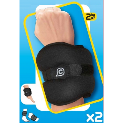 CUPS WRIST ANKLE WEIGHT 2X2.0 KG BLACK