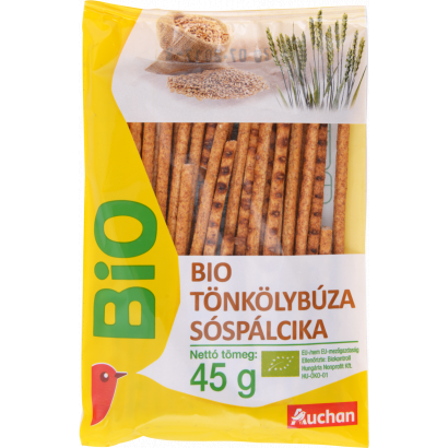 Auchan Bio tönkölybúza sóspálcika 45 g