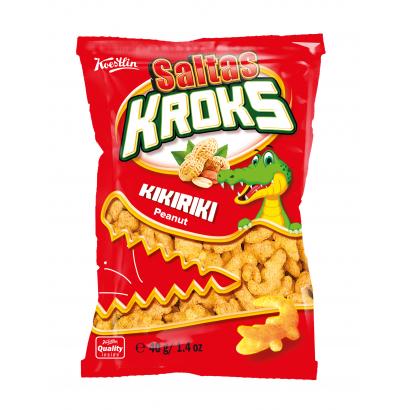 Saltas Kroks extruded corn snack with peanut 40g