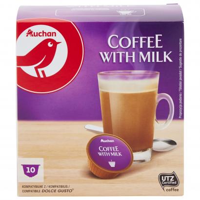 AUCHAN COFFEE CAPSULES WITH MILK DG 10X10G 100G