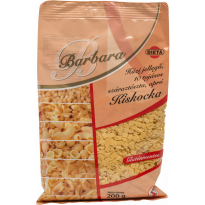 Barbara Homemade-type Gluten-free 10-eggs small noodles Small square