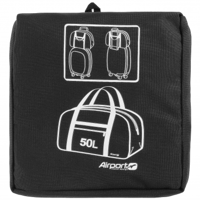 AIRPORT FOLDABLE BOWLING BAG 50L - BLACK