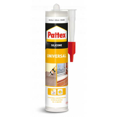 Pattex univerzális szilikon, fehér, 280 ml
