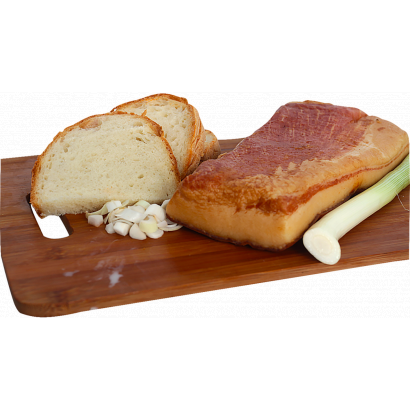 bread with smoked bacon