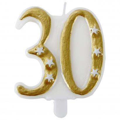Actuel számgyertya 30 arany színű