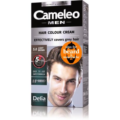 Delia cameleo férfi hajszínező krém 5.0 világos barna 60ml