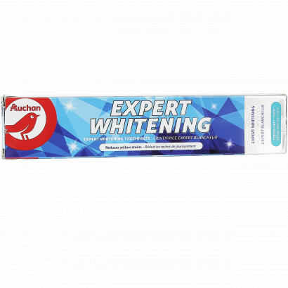 AUCHAN TOOTHPASTE  EXPERT WHITENING TUBE 75ML