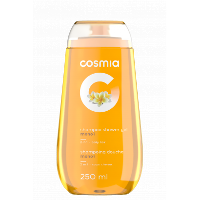 COSMIA SHAMPOO AND SHOWER GEL 2 IN 1 MONOI 250 ML