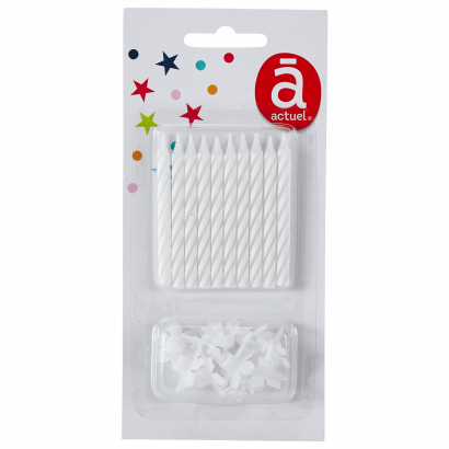 ACT/BASIC CANDLES X10, WHITE