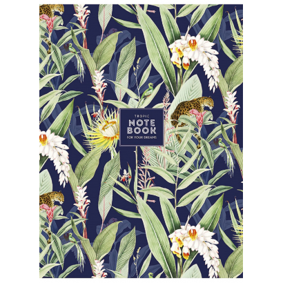 SHKOLYARYK 'Tropic notebook' Füzet, kockás, A4, 80 lap (többféle mintával)