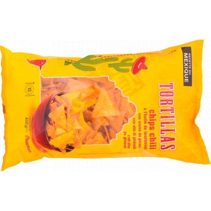 Auchan tortilla chips chilis 400 g