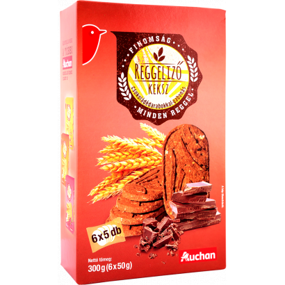 Reggeli keksz csokoládédarabokkal 300g