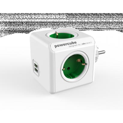Allocacoc 1202GN/DEOUPC Powercube Original USB elosztó, zöld