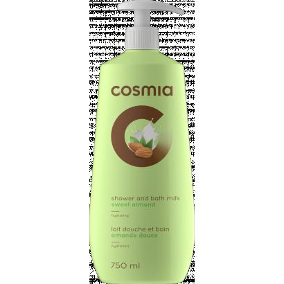 COSMIA BATH AND SHOWER GEL MILK SWEET ALMOND  750 ML