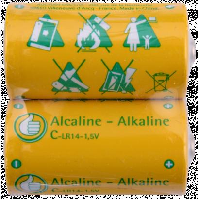 2x Alcaline-Alkaline C-LR14-1,5V