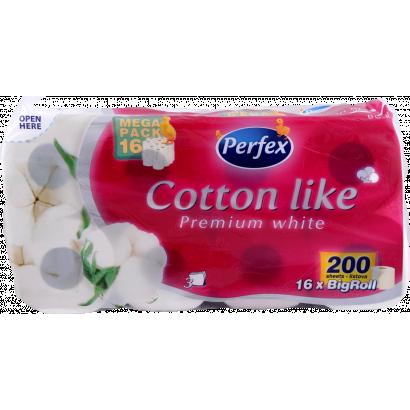 Cotton like toalettpapír 3 rétegű 16 tekercses
