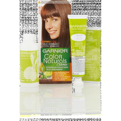 Garnier Color Naturals Creme 6.25 mogyoróbarna tápláló tartós hajfesték