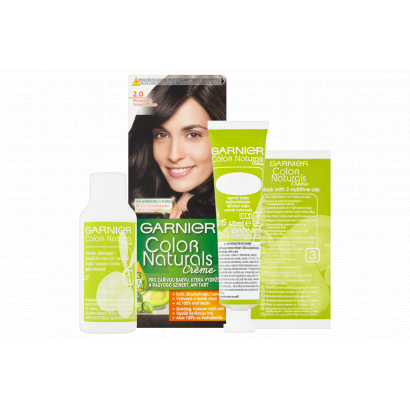 Garnier Color Naturals Creme 2.0 Természetes Fekete tápláló tartós hajfesték